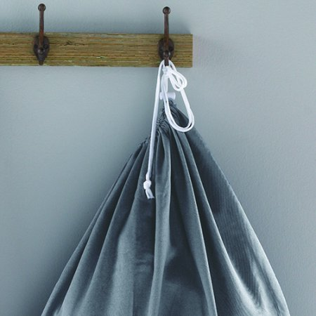 Mainstays Grey Flannel Drawstring Canvas Laundry Bag 5-Pack - Canvas Laundry Tote