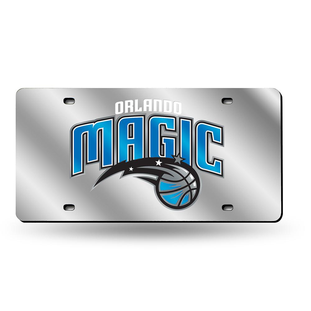 Orlando Magic Deluxe Mirrored Laser Cut License Plate