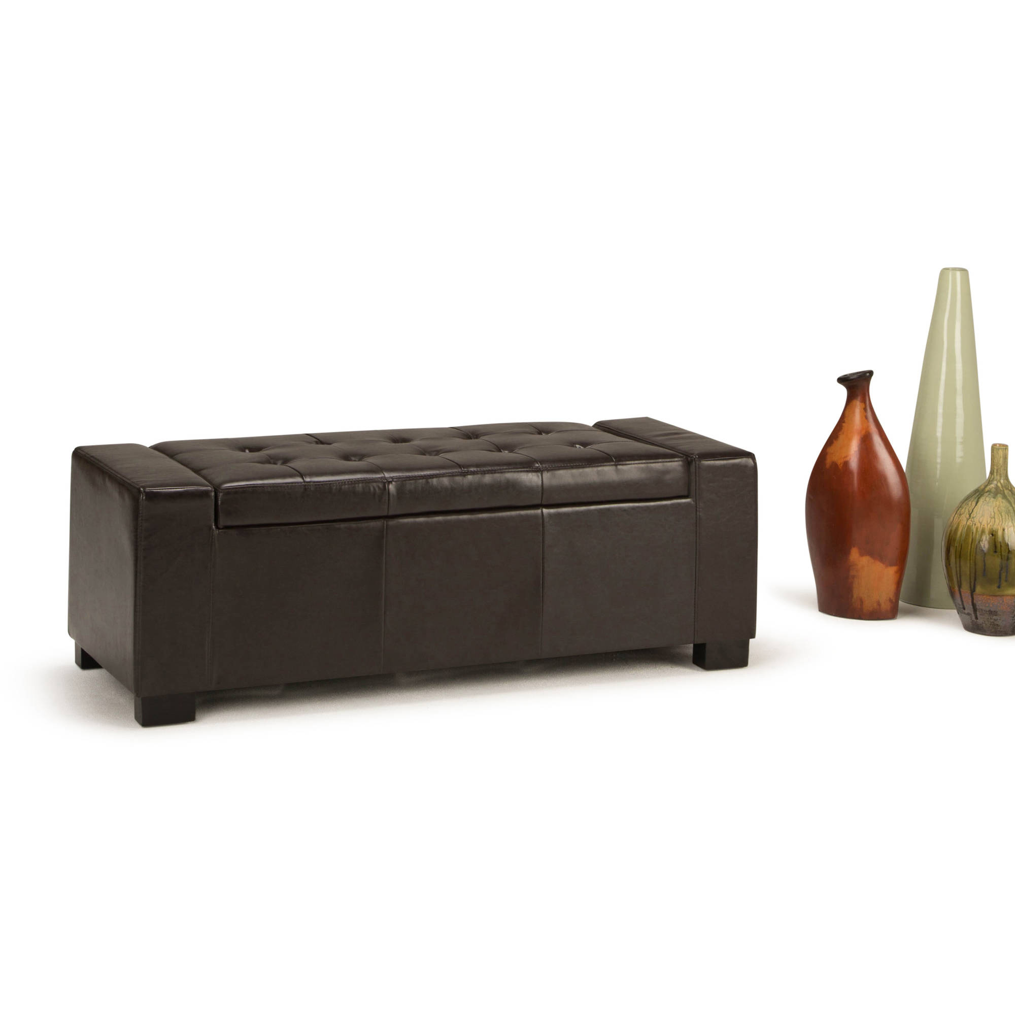 Brooklyn + Max Rochester Large Rectangular Storage Ottoman Bench