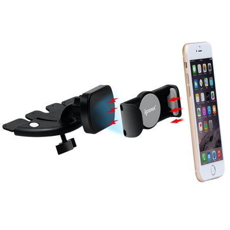 Ipow Cd Slot Car Mount Magnetic Clamp Phone Holder For Car Universal For Android Smartphone W  Iphone X 8 8 Plus 7 7 Plus 6 6S Plus Samsung Galaxy S8 S7 Edge  Green Monday   Christmas Day Deal