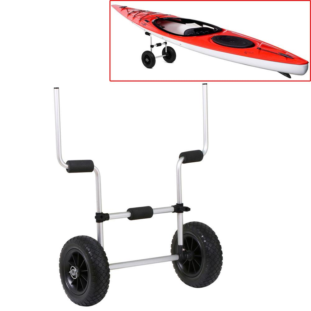 Click here to buy YaHeetech Kayak Cart For Sit-On-Top Kayaks Scupper Trolley Cart Kayak Carrier, Silver by Yaheetech.