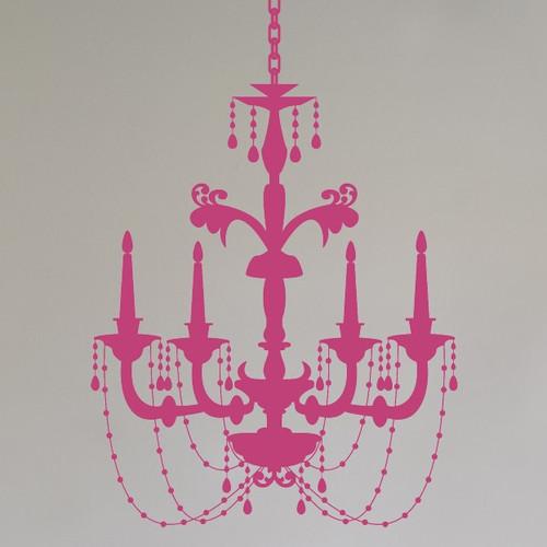 Alphabet Garden Designs Chic Chandelier Wall Decal