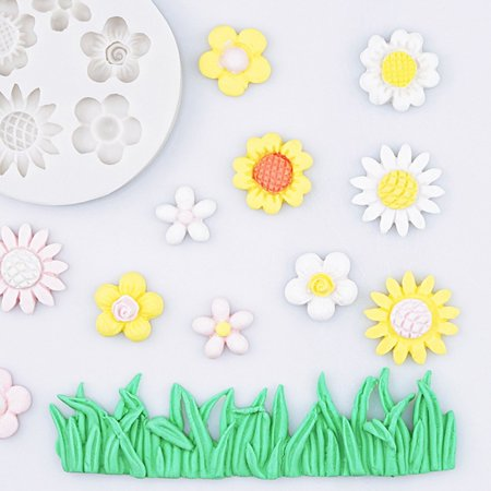 Wild cute small flower mold Silicone Mold Chocolate baking Tools Non-stick - image 2 of 6