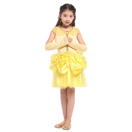 Girls' Disney Princess Belle Dress-Up Play Costume Set