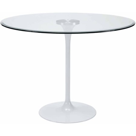 Modway Circuit Aluminum Dining Table Clear Walmartcom - Aluminum dining table