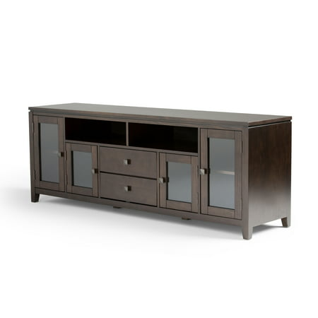 Brooklyn + Max City Solid Wood 72 inch Wide Contemporary TV Media Stand in Coffee Brown For TVs up to 80 inches