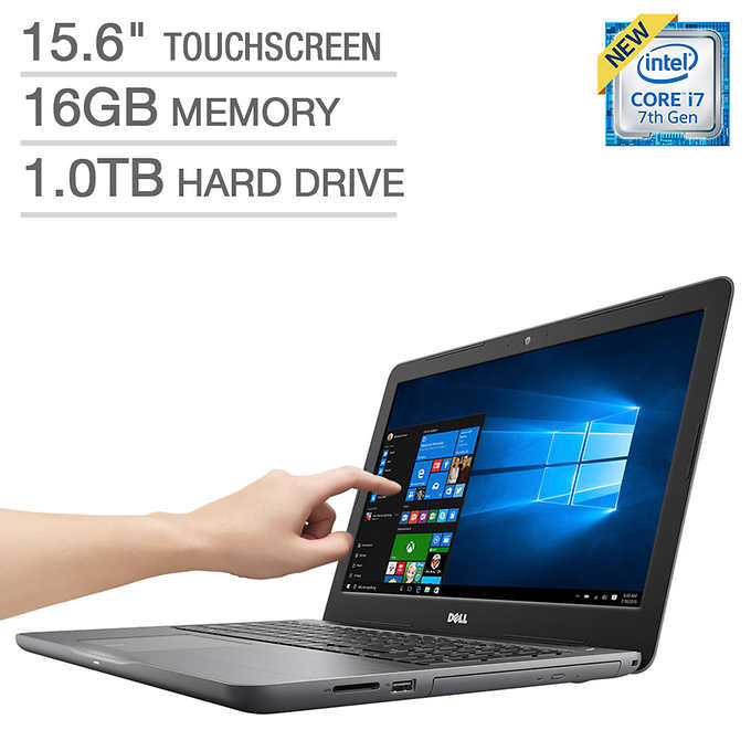 Dell Inspiron 15 5000 Series Touchscreen Laptop - Intel Core i7 - 4GB AMD Graphics - 1080p Notebook PC Computer 16GB 1TB Touch Screen Kaby Lake 7th Gen Intel