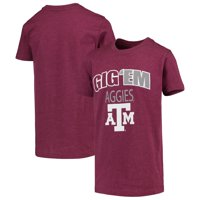 Texas A&M Aggies Colosseum Youth Bold Logo Chant T-Shirt - Heathered Maroon
