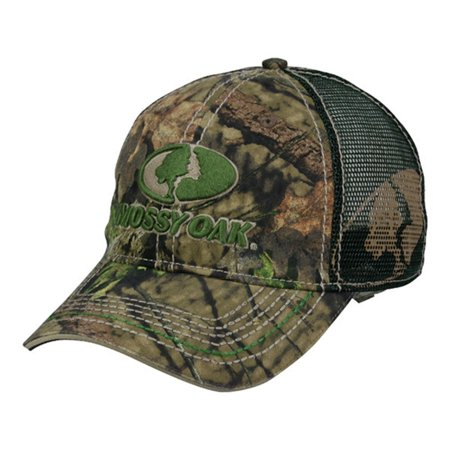 Mossy Oak Country Camo Front Logo Green Mesh Back Hunting Hat