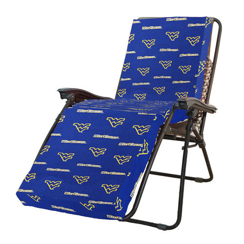College Covers NCAA West Virginia Outdoor Chaise Lounge Cushion