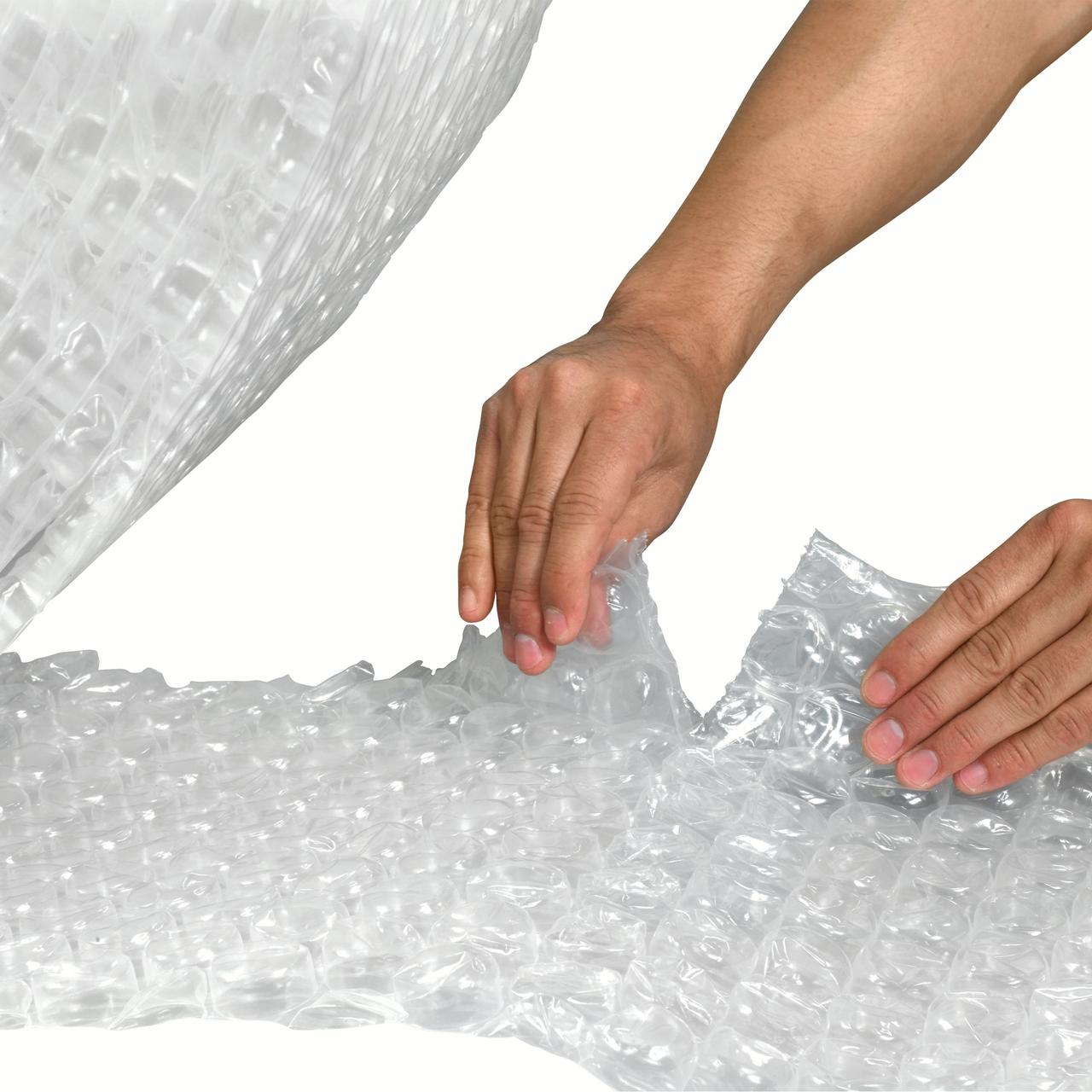 """Box Partners UPSable Perforated Air Bubble Rolls 1/2"""" x 48"""" x 125' Clear 1/Each - BXPBWUP1248P"""