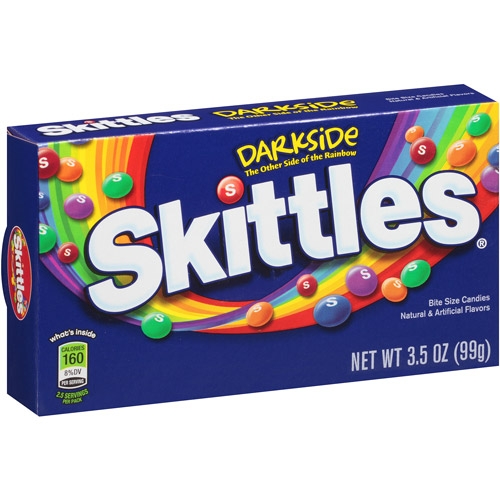 Skittles Darkside Bite Size Candies, 3.5 oz