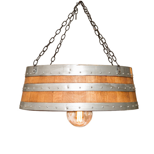 Napa East Collection Top of the Barrel 1-Light Drum Pendant