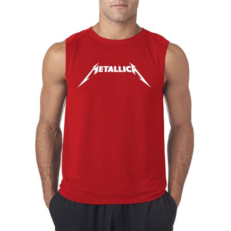 New Way 925 - Men's Sleeveless Metallica Metal Rock Band Logo 2XL Red (New Mens Rock)