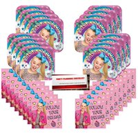 JoJo Siwa Joelle Joanie Pink Party Supplies Bundle Pack for 16 (Plus Party Planning Checklist by Mikes Super Store)