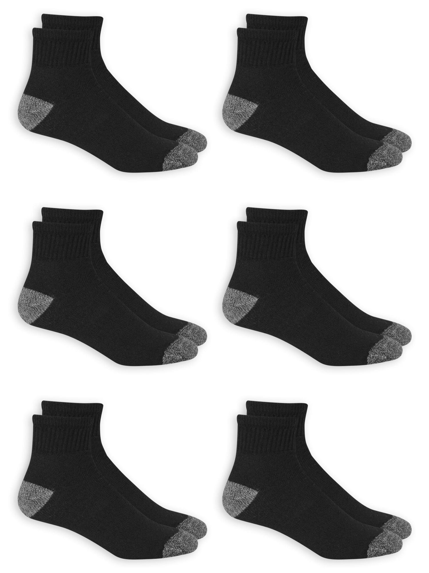Men's Big & Tall Odor Resistant Ankle Socks 6 Pack