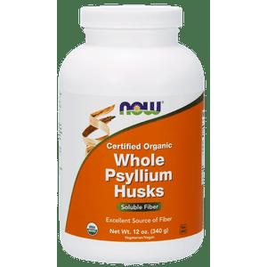 NOW Whole Psyllium Husk, Organic, 12 Oz