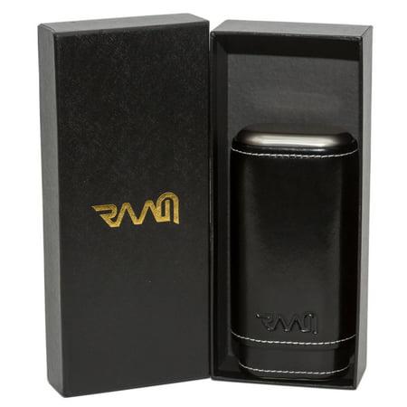 RAAM Black Leather Cigar Case