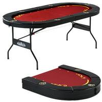 Barrington Foldable 6 Player Poker Table, Red
