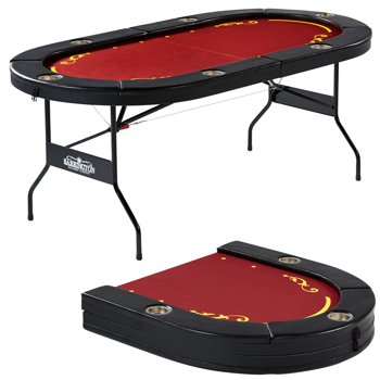 Barrington Foldable 6 Player Poker Table (Red)