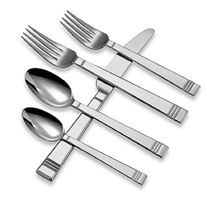 Lenox Tin Can Alley 18/10 Stainless Flatware / Silverware - 5pc. Place Setting (Service for One)