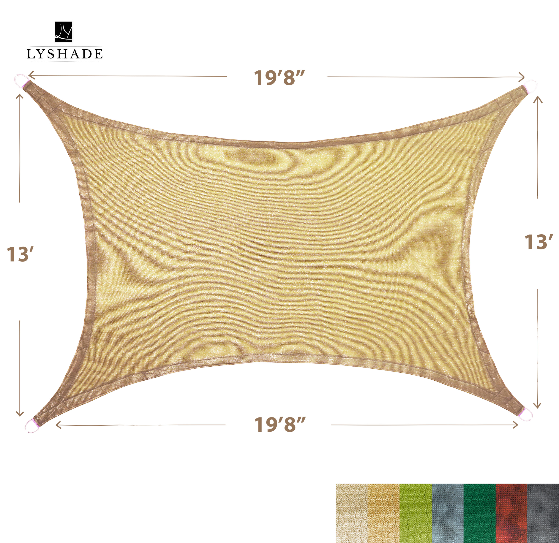 Coolaroo Triangle Shade Sail Canopy Tan 13/' x 13 /'x 13/' Ready To Hang Blocks UV