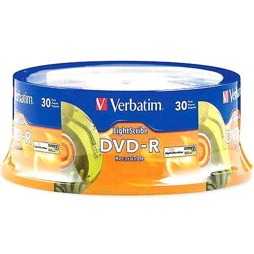 Verbatim 95339 DVD-R 4.7GB 16x LightScribe 30/PK