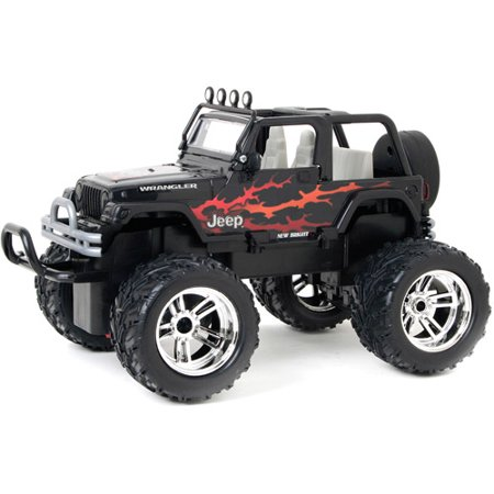 New Bright 1 16 Radio Control Full Function Jeep Wrangler Black