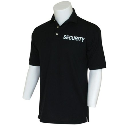Fox Outdoor 65 07 S Security Two Imprinted Polo Shirt  Black   Small