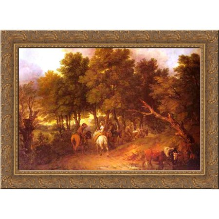 Pesants Returning from Market 24x18 Gold Ornate Wood Framed Canvas Art by Thomas Gainsborough - Gainsborough Halloween Market
