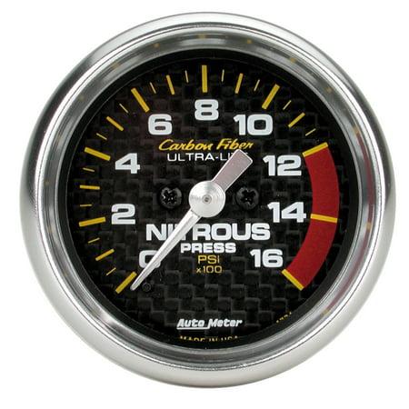 - AutoMeter 4774 Carbon Fiber Electric Nitrous Pressure Gauge