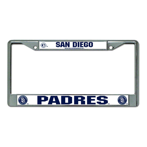 MLB - San Diego Padres Chrome License Plate Frame
