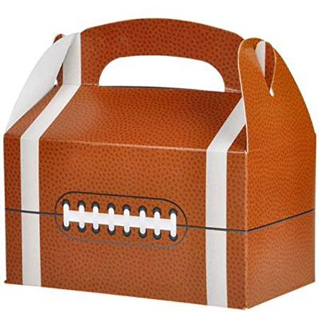 30 FOOTBALL TREAT BOXES 2.5 DOZEN BY, 30 FOOTBALL TREAT BOXES By DISCOUNT PARTY AND NOVELTY (Football Treat Bags)