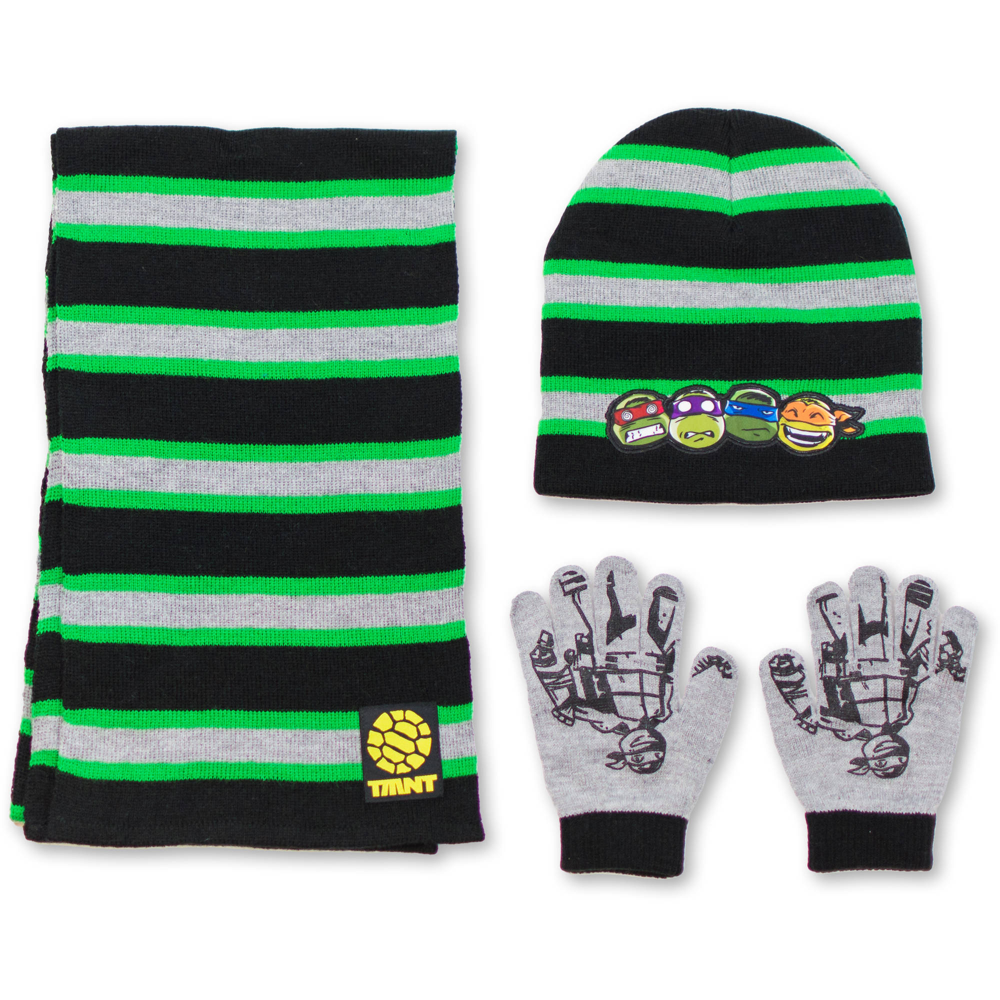 Teenage Mutant Ninja Turtles 3Pc Hat, Glove, Scarf Set
