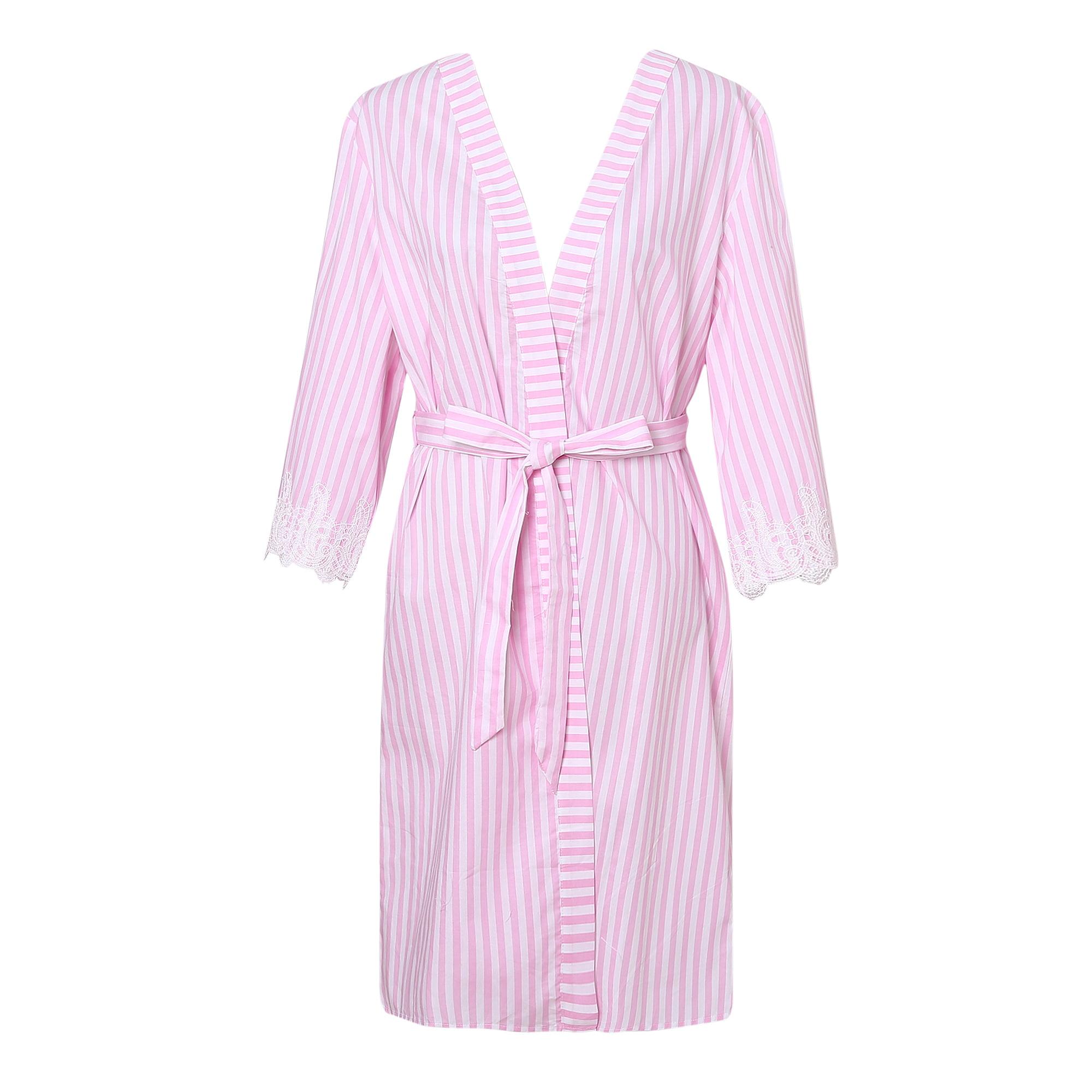 Richie House Women's Summer Striped Hiyoku Pajama Sleepwe...