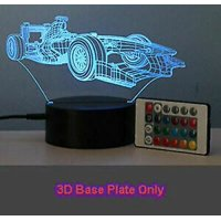 3D LED illusion USB 7 Color Table Night Lamp Light Bedroom Child Gift USA (DD-201 F1 Car (3D Face Plate Only))