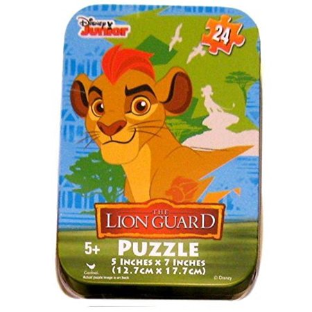 The Lion Guard Kion Jigsaw Puzzle in Travel Tin 24 Pieces, Includes storage tin for puzzle pieces with image By Disney Junior Ship from US