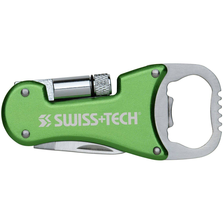 Click here to buy Swiss+Tech ST60319 Green 3-in-1 Bottle Opener Multitool by Swiss Tech.