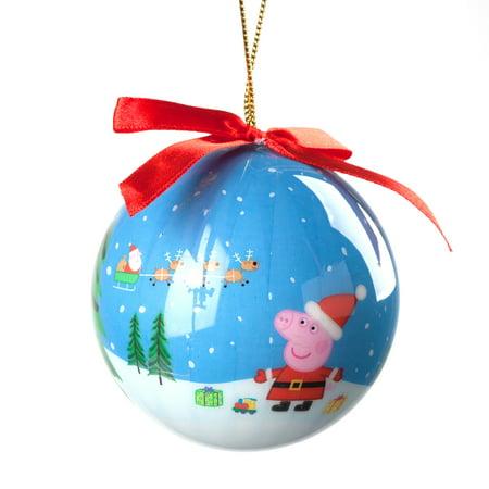 Personalized Peppa Pig Santa Decoupage Christmas Ornament ()