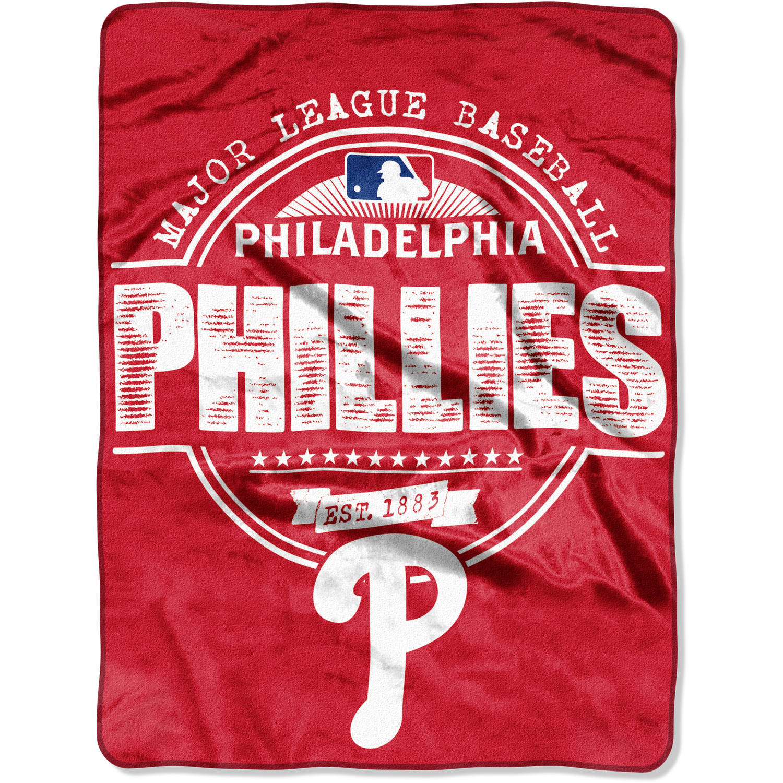 "MLB Philadelphia Phillies ""Structure"" 46"" x 60"" Micro Raschel Throw"