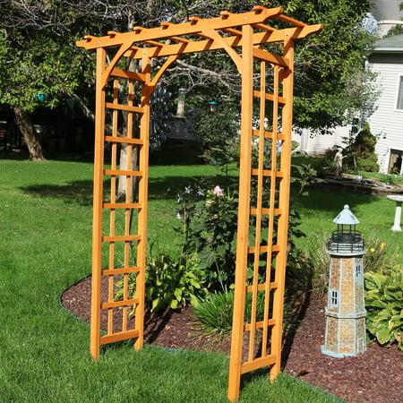 0.625 Inch Arbor - Sunnydaze Decor Wooden Outdoor Garden Arbor, 57 x 20 x 78 Inches