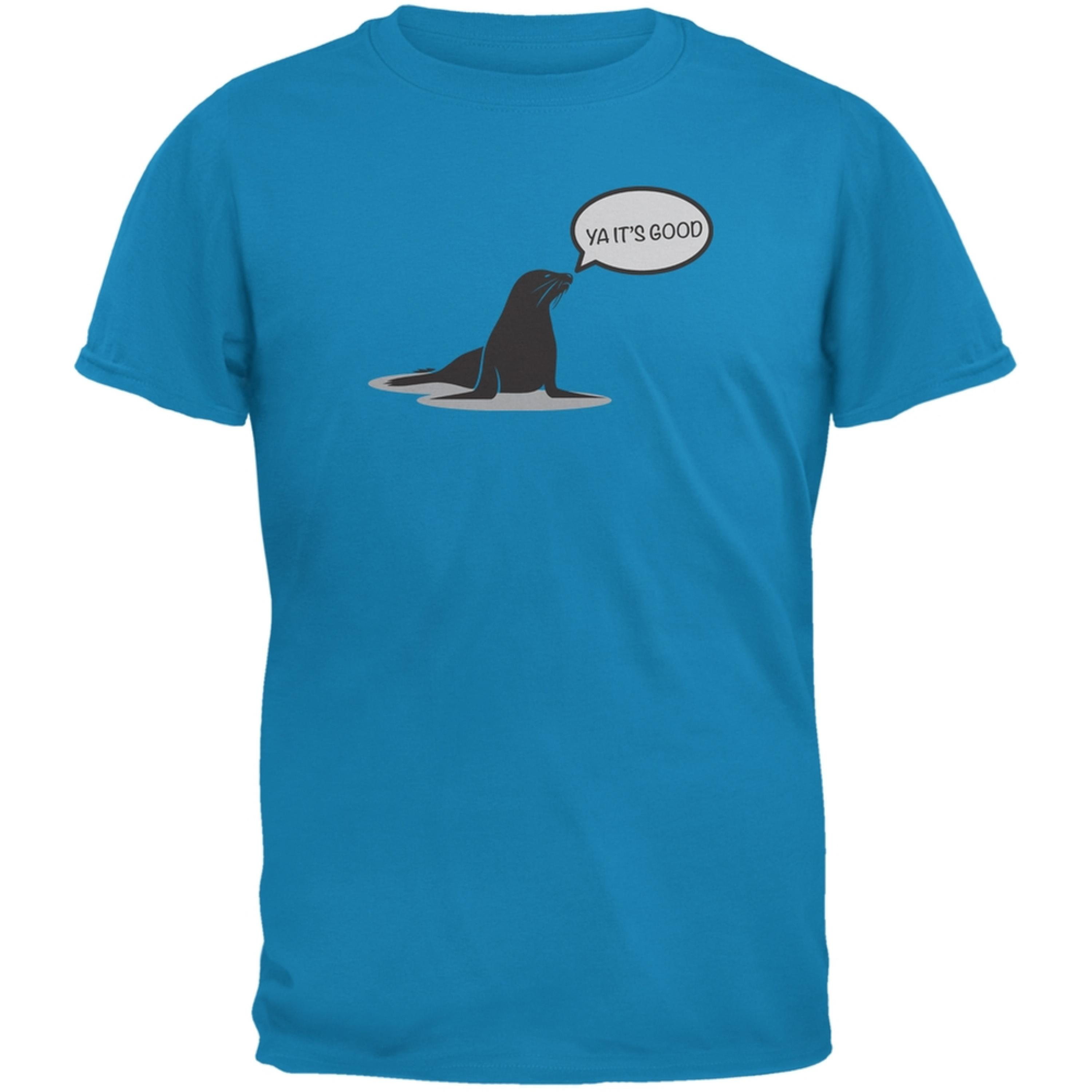 Seal Of Approval Sapphire Blue Adult T-Shirt