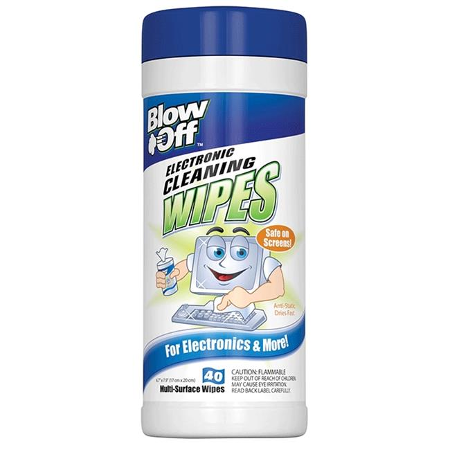 Max Professional WPE-002-091 Blow Off Electronic Cleaning Wipes /40 - Pack of 12