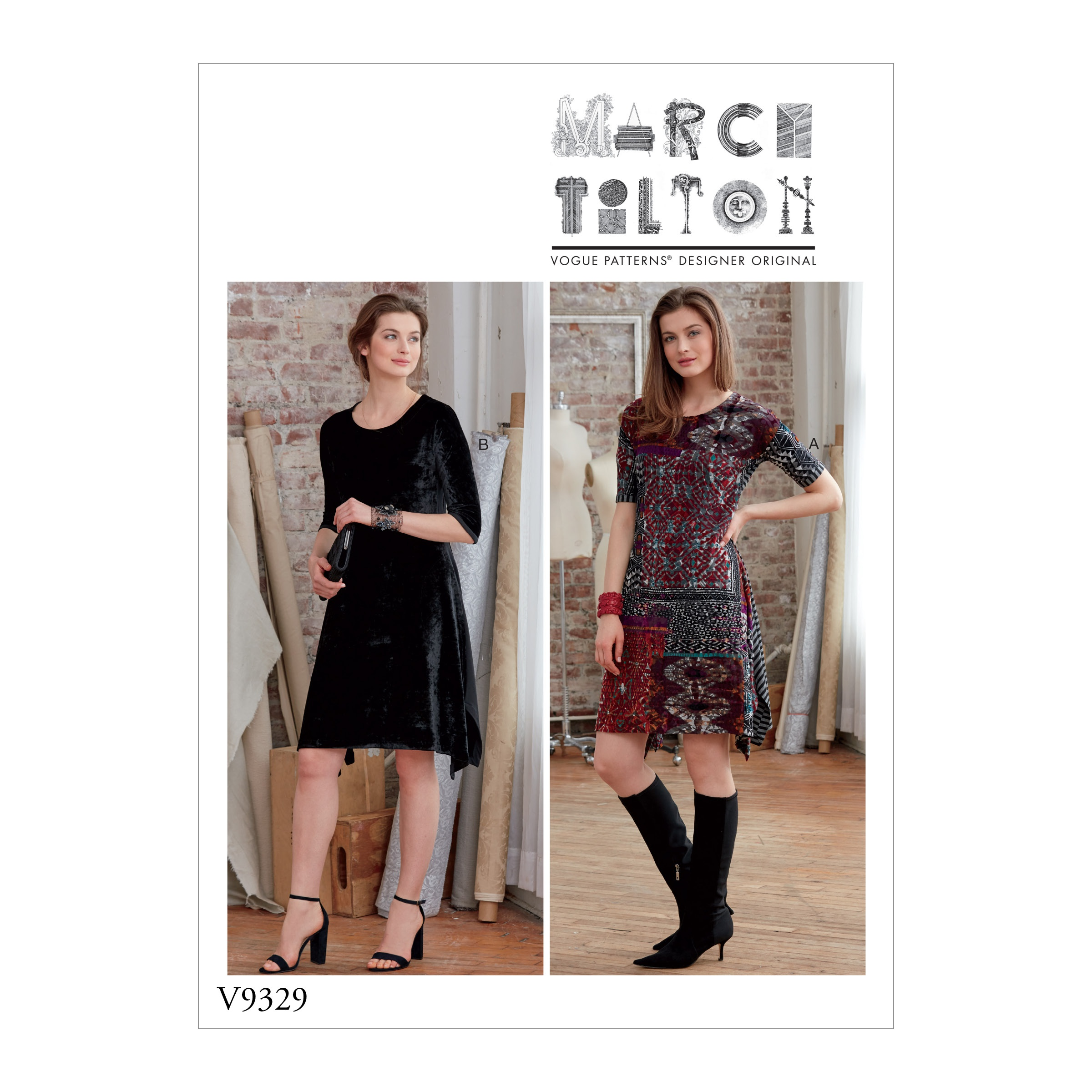 Vogue Patterns Sewing Pattern Misses' Dress-L-XL-XXL