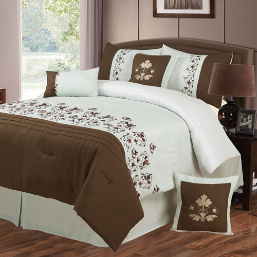 Somerset Home Hannah 7-Piece Embroidered Bedding Comforter Set