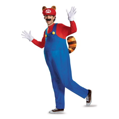 Adult Raccoon Costume (MARIO RACCOON DELUXE ADULT)