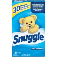Snuggle Fabric Softener Dryer Sheets, Blue Sparkle, 120 Count
