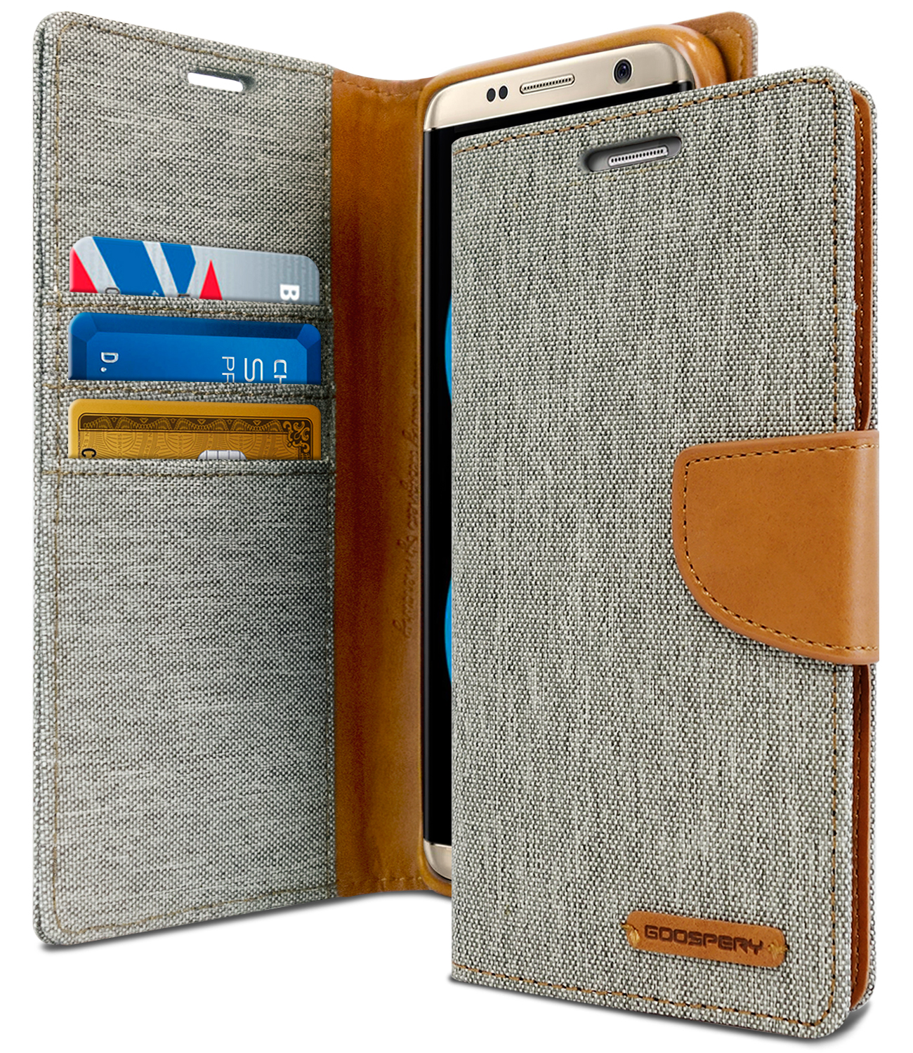 Galaxy S8 Case Drop Protection Goospery Canvas Diary Denim Samsung Core 2 Blue Material Wallet Id Card Cash Slot With Stand Flip Cover W Tpu Casing For