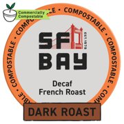 SF Bay Coffee DECAF French Roast 80 Ct Natural Water Processed Dark Roast Compostable Coffee Pods, K Cup Compatible including Keurig 2.0