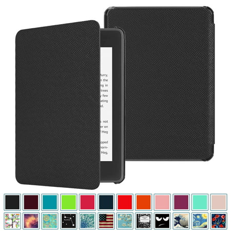 Fintie Slimshell Case for All-new Kindle Paperwhite 10th Generation - 2018  Release, PU Leather Cover w/ Sleep/Wake Black